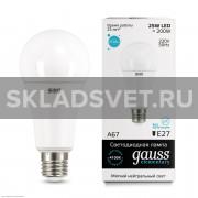Лампа Gauss LED Elementary A67 25W E27 4100K  (73225)